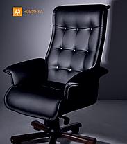 Кресло Luxus-В кожа Lux черная (Новый Стиль ТМ), фото 3