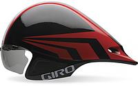 Велошлем с визором Giro Selector Brigh чёрный/красный (GT)
