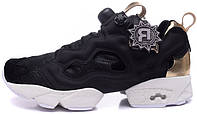Женские кроссовки Reebok Insta Pump Fury PM Black Gold, рибок памп