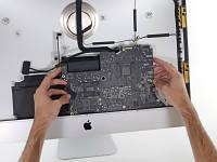 """Ремонт материнской платы іMac """"Базовый"""" замена звуковых разъемов, USB, восстановление контактов"""