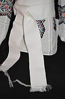 Белый широкий пояс из ткани, 1,5 метра, 65/50 (цена за 1 шт. + 15 гр.)