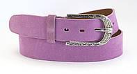 Женский яркий классический кожаный ремень замш 4см Mr&Mrs (100055), фото 1