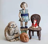 Набор на ознакомительный экспресс-курс практика с 3-мя видами глины. Красная, белая и шамотная глина.