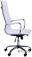 Кресло Слим-HB (мех. TL) (PU белый)