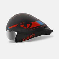 Велошлем с визором Giro Selector матовый/чёрный Glowing/красный/синий (GT)