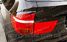 Вії на фари BMW X5 E70 (накладки на задні фари БМВ Х5 Е70)