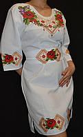 Женское платье с вышивкой «Маковый орнамент», 42-44 р-р, 600/500 (цена за 1 шт.+100)