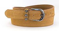 Коричневый гладкий женский пояс под джинсы (100612)