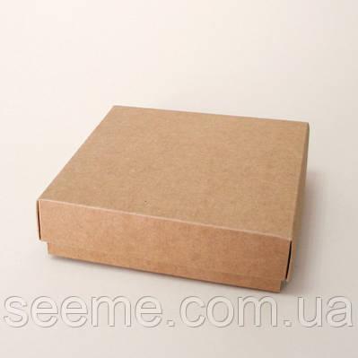 Коробка подарочная из крафт картона, 120x120x35 мм.