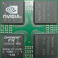Микросхема nVidia FX Go5200 64MB