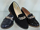 Стильні жіночі туфлі натуральна замша, фото 8