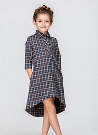 Плаття в клітку для дівчинки