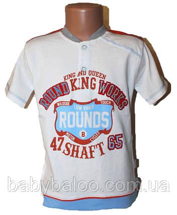 Прикольная футболка пуговица манжет (от 5 до 8 лет), фото 2