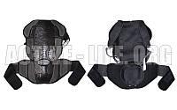 Мотозащита спины с поясничной опорой (PL, пластик, PVC, р-р M-XL, черный)