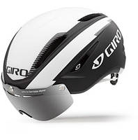 Велошлем с визором Giro Air Attack Shield матовый/чёрный/белый (GT)