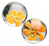 Вагинальные шарики CyberGlass Ben Wa Balls, Yellow Blossom