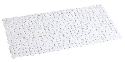 Антиковзаючий килимок для ванної прямокутний білий AWD02090806