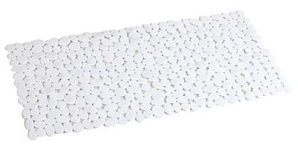 Коврик для ванной антискользящий прямоугольный белый AWD02090806