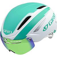 Велошлем с визором Giro Air Attack Shield матовый/белый Turquoise (GT)