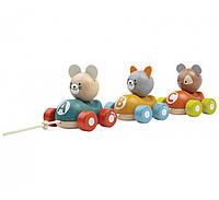"""Деревянная игрушка """"Поезд с животными"""", PlanToys"""