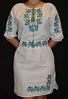 """Платье с вышивкой на домотканом полотне """"Розы"""", 42-50 р-ры, 800\700 (цена за 1 шт. + 100 гр.)"""