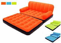 Надувной диван трансформер BestWay 67356 с насосом Orange