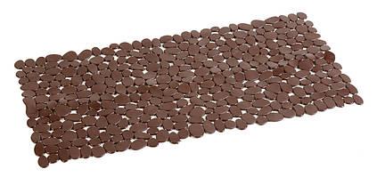 Антиковзаючий килимок для ванної прямокутний коричневий AWD02090808