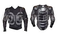 Моточерепаха мотозащита  (PL, пластик, сетчатая ткань, спандекс, р-р M-3XL (RUS-44-54), черный)