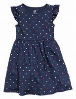 Летнее платье для девочки в горошек р.110-128 (арт.8039)