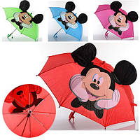 Зонт детский Микки Маус с ушками, фото 1