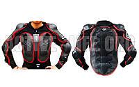 Моточерепаха мотозащита FOX (PL, пластик, сетчатая ткань, спандекс, р-р L-3XL, черный)