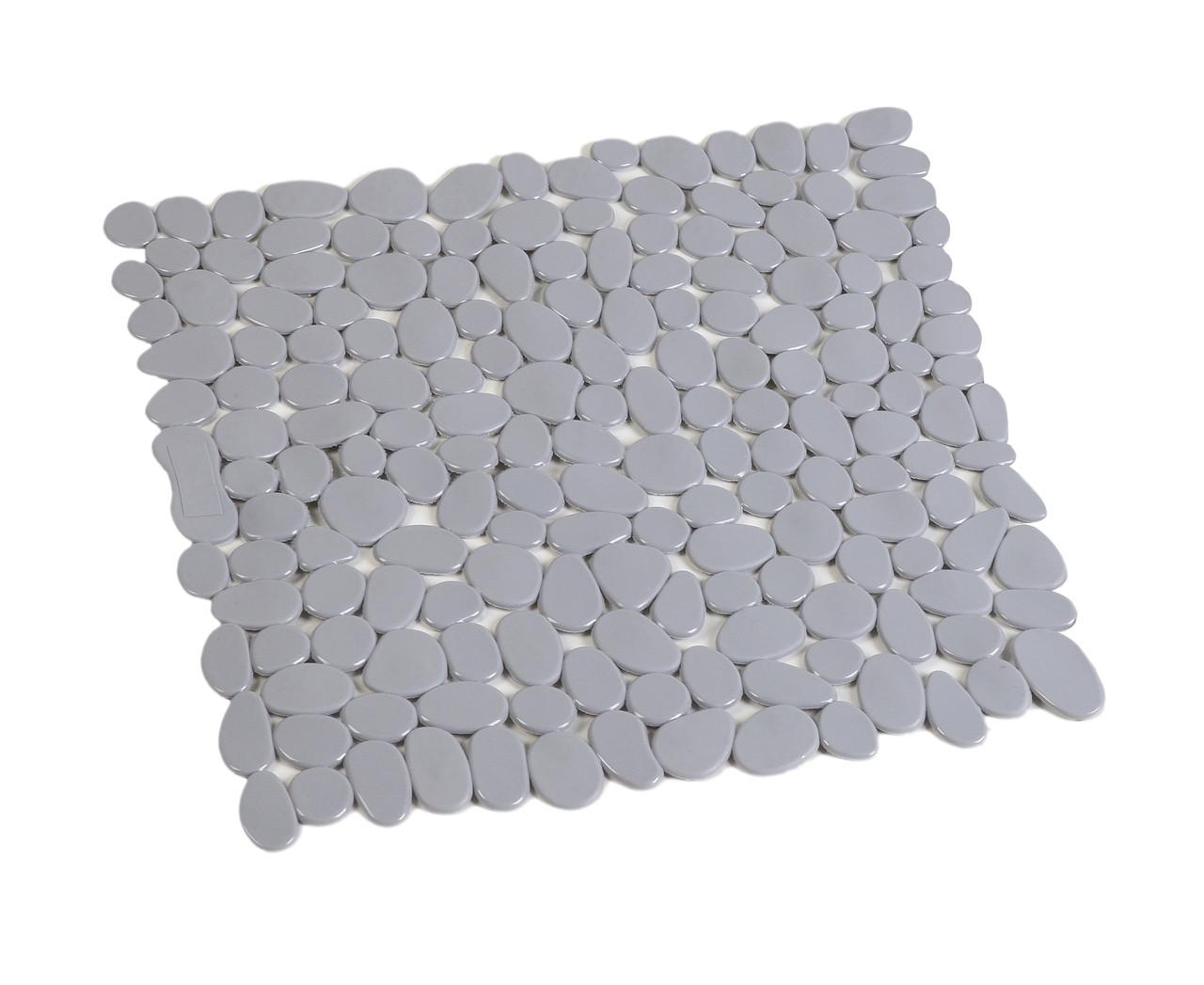 Килимок для душу антиковзаючий квадратний сірий AWD02090810