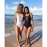 Женский стильный купальник со шнуровкой (2 цвета), фото 2