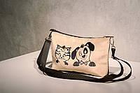 Сумочка клатч котейка с собачкой
