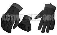 Перчатки тактические с закрытыми пальцами и усил. протектор OAKLEY  (р-р M-XXL, черный)