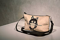 Сумочка клатч котейка на жердочке