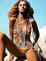 Женский красивый сдельный купальник со шнуровкой. Ограниченно