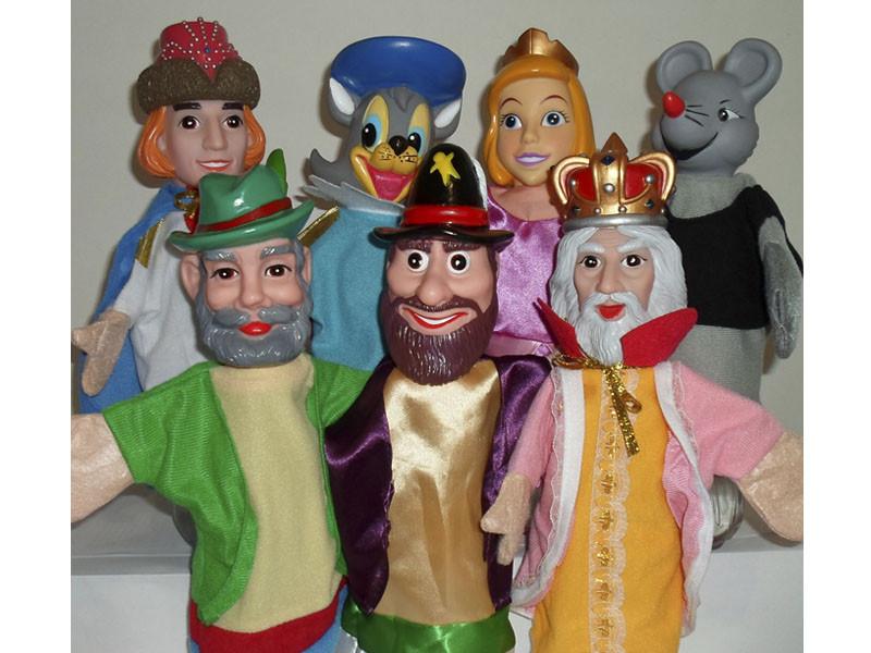 Кукольный театр с ширмой «Кот в сапогах» (7 кукол), Yick Wah