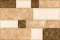 Плитка для стены InterCerama GRANI 230х350 коричневая светлая