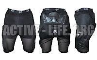 Шорты защитные с защитой спины для экстремальных видов спорта FOX  (PL, PVC, р-р M-XL, черный)