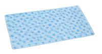Коврик для ванной антискользящий прямоугольный голубой AWD02090938