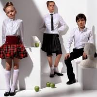 Школьные блузы, гольфы, пиджаки, рубашки и батники