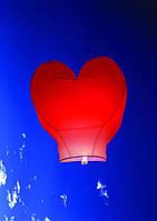 Небесный фонарик сердце с надписью 34*85cm 6цв/микс