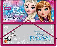 """Папка для тетрадей пласт. на резинке В5 """"Frozen"""" 491049"""