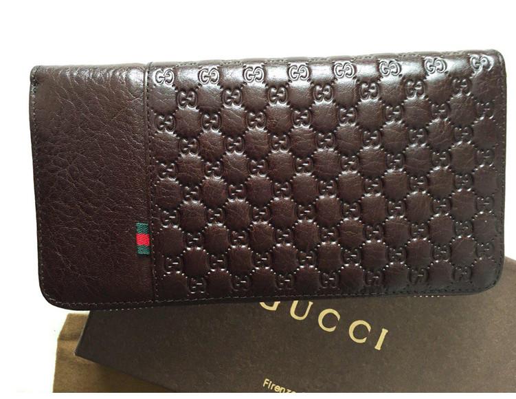 Мужской кошелек Gucci (138030) brown - ЧП Комаров в Киеве