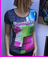 """Стильная турецкая футболка """"Desigual"""""""