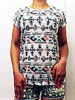 """Женская стильная футболка 999 """"Орнамент Батик"""""""