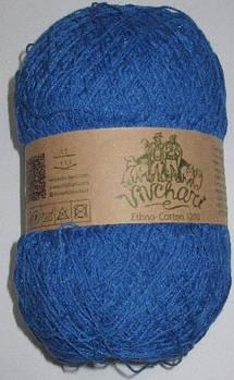 Пряжа Этно-Коттон 1200 м, синяя
