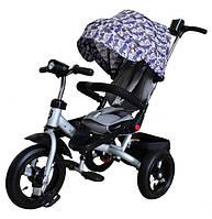 Трехколесный велосипед Mini Trike T400 на надувных колесах Серебро
