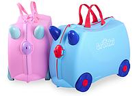 Чемодан детский Trunki Rosie. Розовый с удивительными цветными ручками!, фото 1